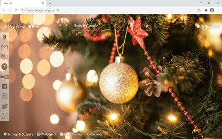 Christmas Decorations background theme