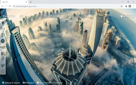 cityscape wallpaper chrome new tab