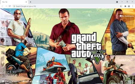 gta 5 chrome theme new tab