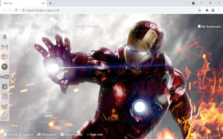 iron man chrome theme new tab