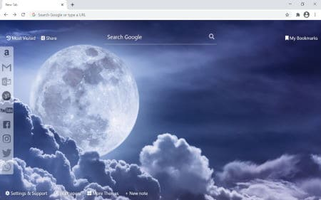 moon chrome wallpaper new tab