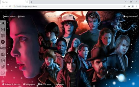 Stranger Things chrome new tab