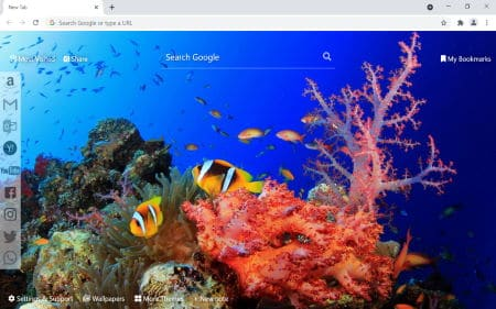 Underwater Ocean chrome theme new tab