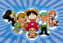 One Piece Chibi chrome wallpaper